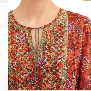 Time & Tru Embroidery woven floral dress